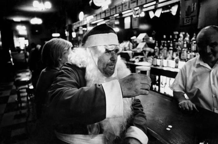 Bruce Gilden- -Santa drinking-- New York- 1968.jpg