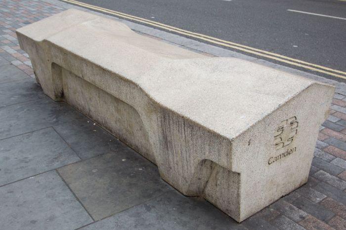 A Camden Bench- designed to deter sleeping- skating- graffiti- theft- littering and seventeen other behaviors..jpg