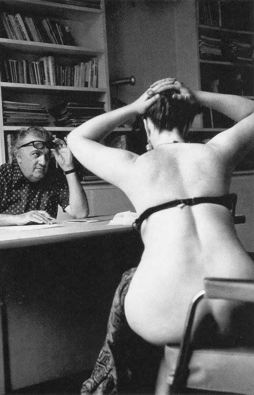 Federico Fellini casting actresses for the film -Casanova-- Paris- 1975.jpg