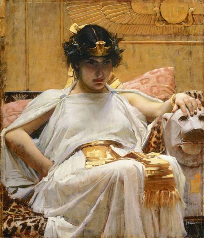 John William Waterhouse- -Cleopatra-- 1888- oil on canvas- 65 x 57 cm.jpg
