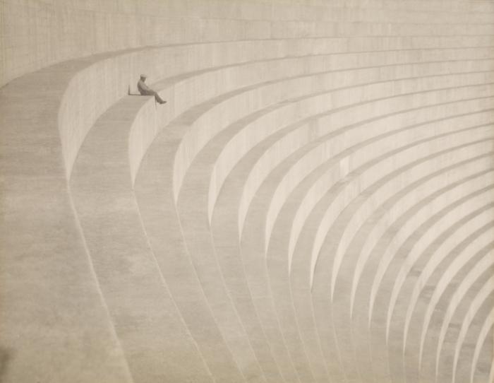 Hiromu Kira- Man on Steps- Bowl -The Thinker-- c. 1930..jpg